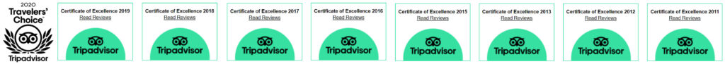Awards from Tripadvisor
